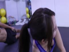 美女健身运动之腹肌侧腹肌Tabata训练