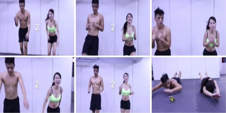 美女健身运动之Tabata Workout